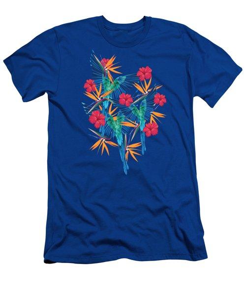 Parrots Men's T-Shirt (Slim Fit) by Marta Olga Klara