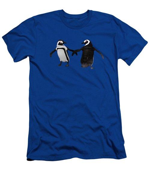 Penguin Dance Men's T-Shirt (Slim Fit) by Methune Hively
