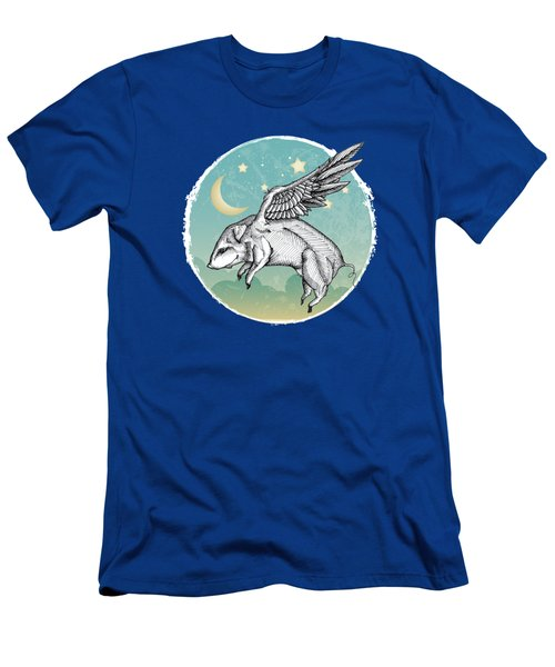 Pigs Fly - 2 Men's T-Shirt (Slim Fit) by Mary Machare