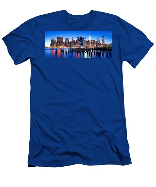 Magic Manhattan Men's T-Shirt (Slim Fit) by Az Jackson