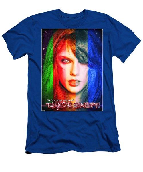 Taylor Swift - Sparks Alt Version Men's T-Shirt (Slim Fit) by Robert Radmore