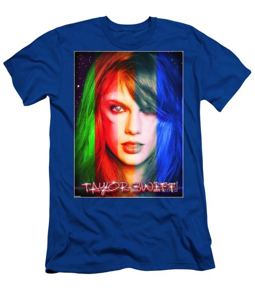 Taylor Swift - Sparks Men's T-Shirt (Slim Fit) by Robert Radmore