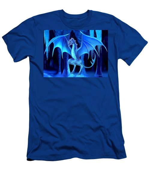 The Blue Ice Dragon Men's T-Shirt (Slim Fit) by Glenn Holbrook