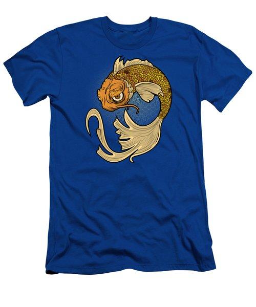 The Disgruntled Koi Men's T-Shirt (Slim Fit) by Laz Llanes