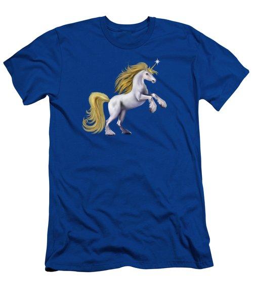 The Golden Unicorn Men's T-Shirt (Slim Fit) by Glenn Holbrook