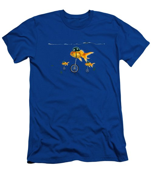 The Race  Men's T-Shirt (Slim Fit) by Mark Ashkenazi