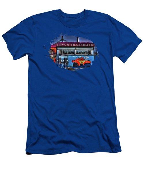 Tonys Crabshack Men's T-Shirt (Slim Fit) by Thom Zehrfeld