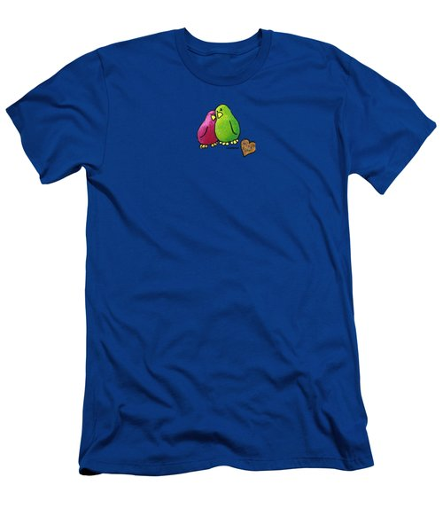 True Love Heart Men's T-Shirt (Slim Fit) by LimbBirds Whimsical Birds