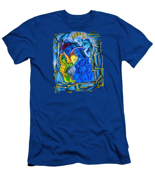 Yeti And The Mermaid Series I Don't You See? Men's T-Shirt (Slim Fit) by Joanna Whitney