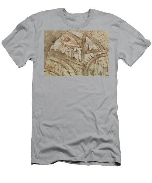 Drawing Of An Imaginary Prison Men's T-Shirt (Slim Fit) by Giovanni Battista Piranesi