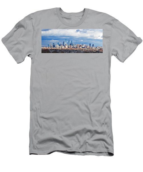 Buildings In A City, Comcast Center Men's T-Shirt (Slim Fit) by Panoramic Images