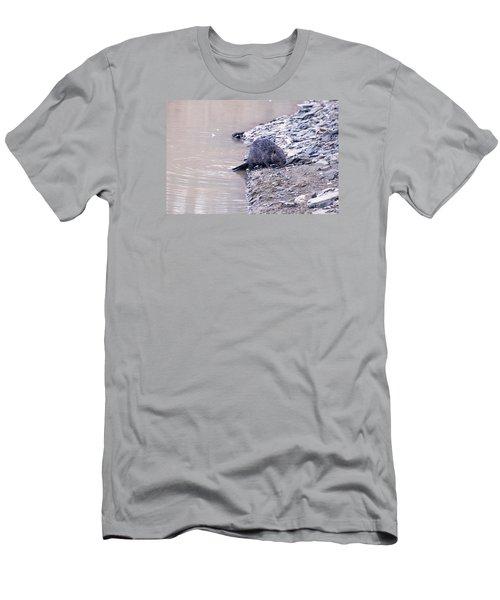Beaver On Dry Land Men's T-Shirt (Slim Fit) by Chris Flees