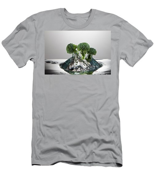 Broccoli Freshsplash Men's T-Shirt (Slim Fit) by Steve Gadomski