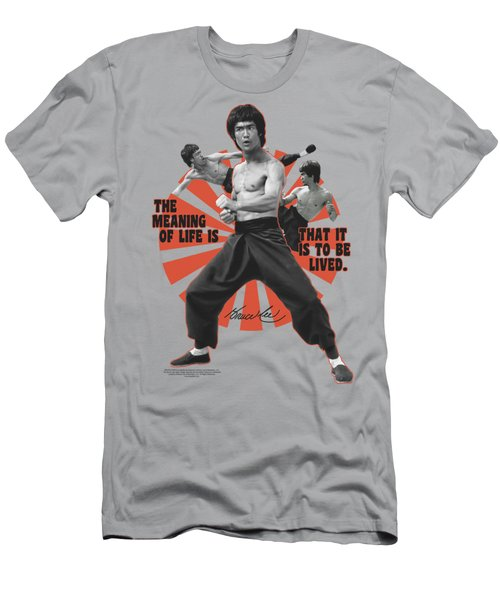 Bruce Lee - Meaning Of Life Men's T-Shirt (Slim Fit) by Brand A