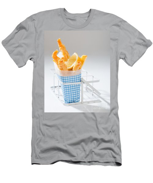 Fish And Chips Men's T-Shirt (Slim Fit) by Amanda Elwell