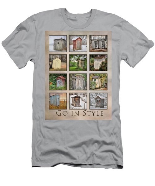 Go In Style - Outhouses Men's T-Shirt (Slim Fit) by Lori Deiter