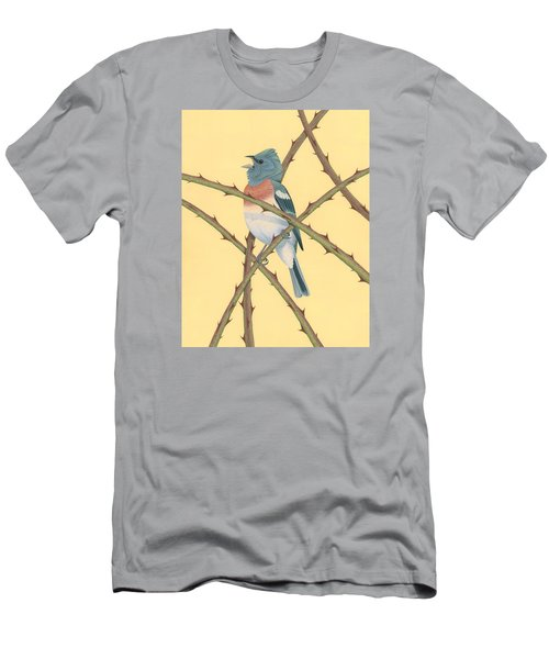 Lazuli Bunting Men's T-Shirt (Slim Fit) by Nathan Marcy