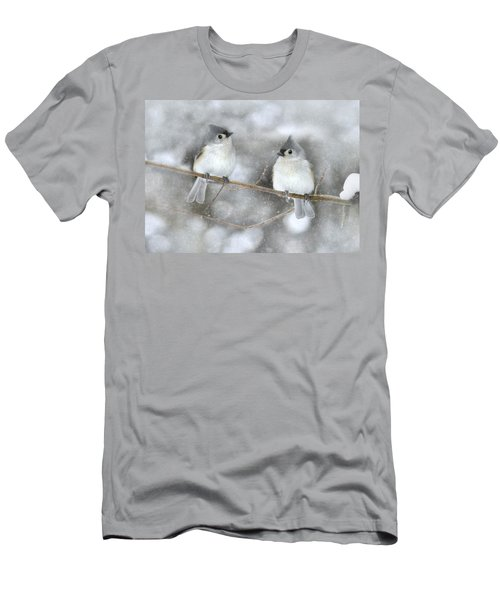 Let It Snow Men's T-Shirt (Slim Fit) by Lori Deiter