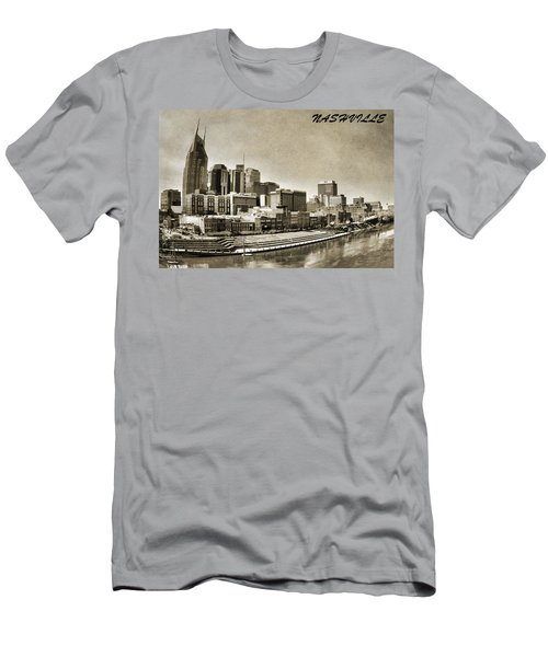 Nashville Tennessee Men's T-Shirt (Slim Fit) by Dan Sproul