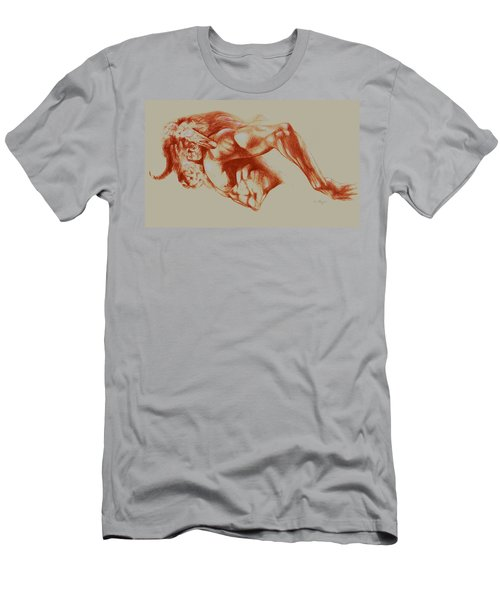 North American Minotaur Red Sketch Men's T-Shirt (Slim Fit) by Derrick Higgins