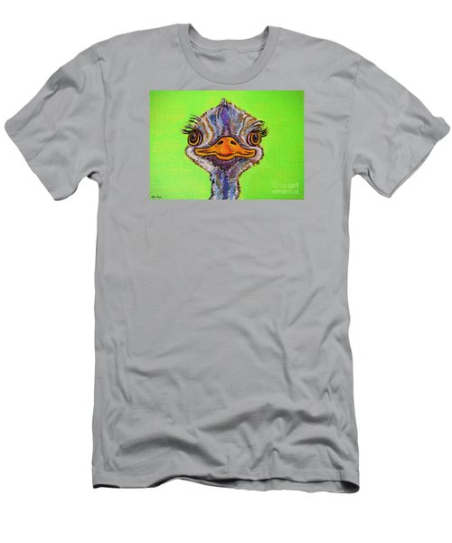 O For Ostrich Men's T-Shirt (Slim Fit) by Ella Kaye Dickey