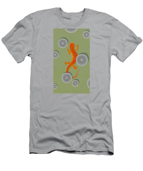 Red Eft Newt Men's T-Shirt (Slim Fit) by Nathan Marcy