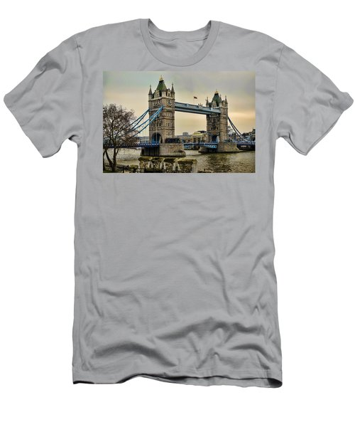 Tower Bridge On The River Thames Men's T-Shirt (Slim Fit) by Heather Applegate