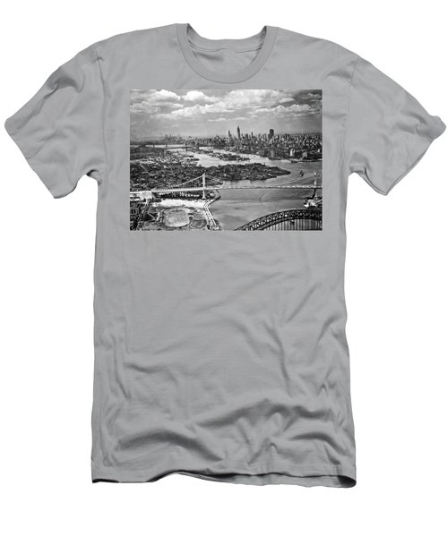 Triborough Bridge Is Completed Men's T-Shirt (Slim Fit) by Underwood Archives