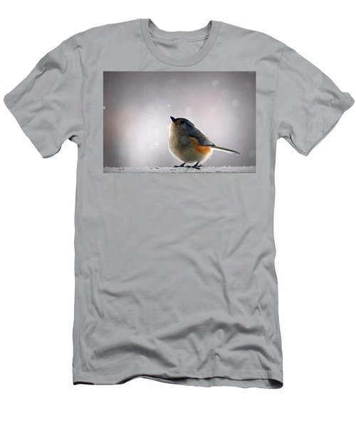 Tufted Titmouse Men's T-Shirt (Slim Fit) by Cricket Hackmann