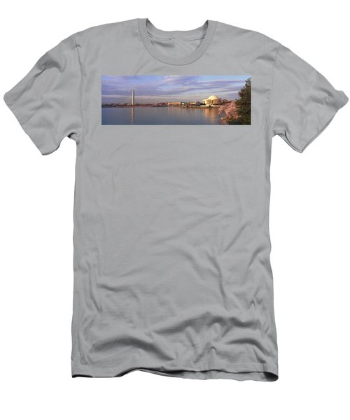 Usa, Washington Dc, Tidal Basin, Spring Men's T-Shirt (Slim Fit) by Panoramic Images
