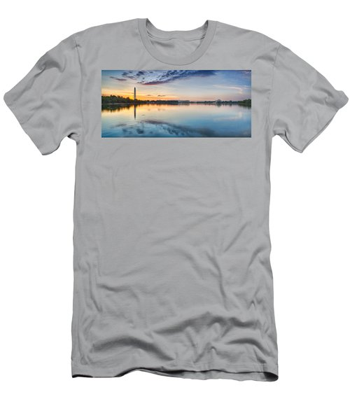 Washington Dc Panorama Men's T-Shirt (Slim Fit) by Sebastian Musial