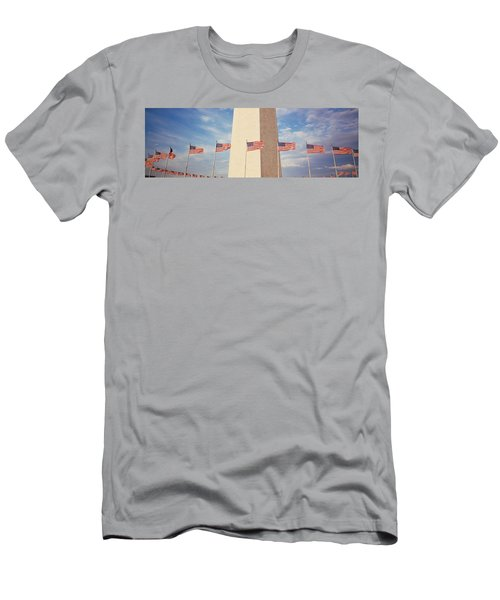 Washington Monument Washington Dc Usa Men's T-Shirt (Slim Fit) by Panoramic Images
