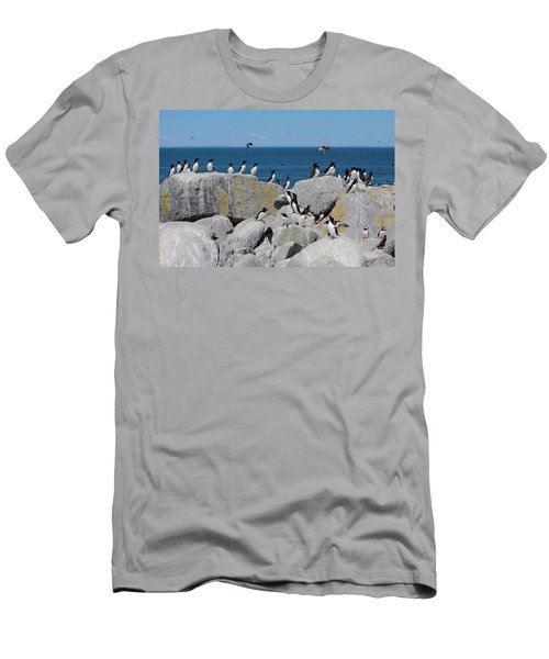 Auk Island Men's T-Shirt (Slim Fit) by Bruce J Robinson
