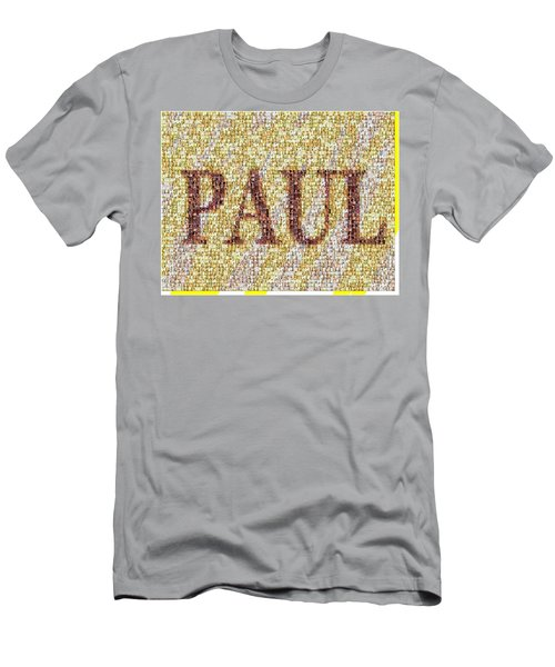 Custom Paul Mosaic Taylor Swift Men's T-Shirt (Slim Fit) by Paul Van Scott