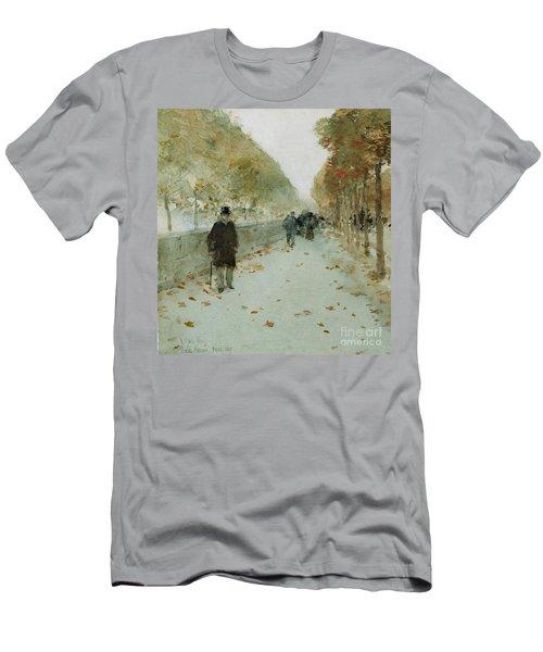 Quai Du Louvre Men's T-Shirt (Slim Fit) by Childe Hassam