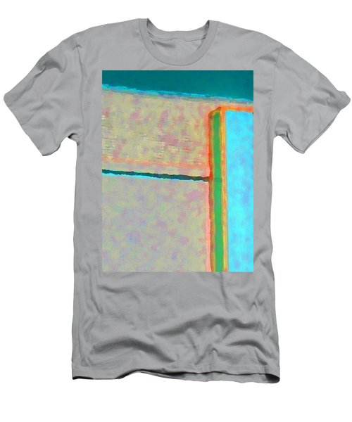 Men's T-Shirt (Slim Fit) featuring the digital art Up And Over by Richard Laeton