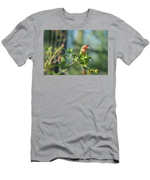 Lovely Little Lovebird  Men's T-Shirt (Slim Fit) by Saija Lehtonen