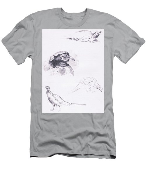 Pheasants Men's T-Shirt (Slim Fit) by Archibald Thorburn