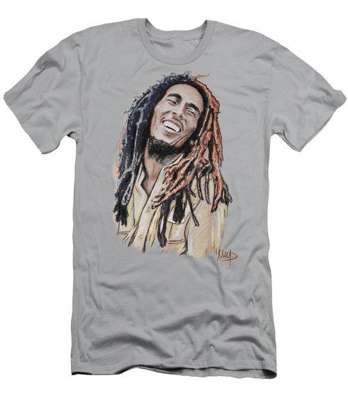 Bob Marley Men's T-Shirt (Slim Fit) by Melanie D