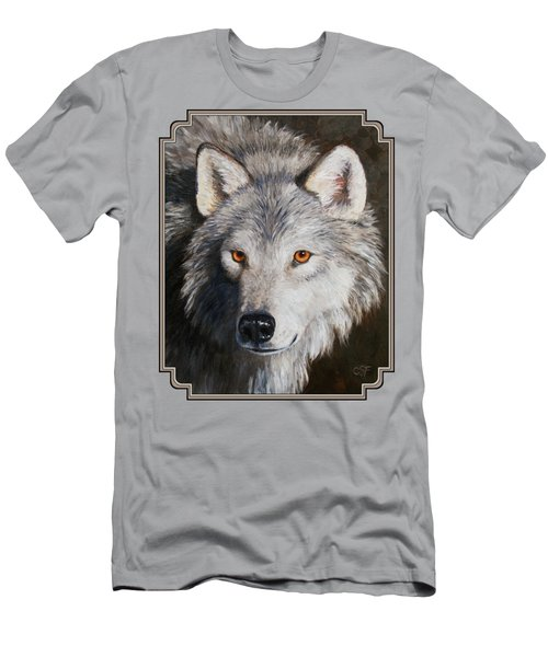 Wolf Portrait Men's T-Shirt (Slim Fit) by Crista Forest