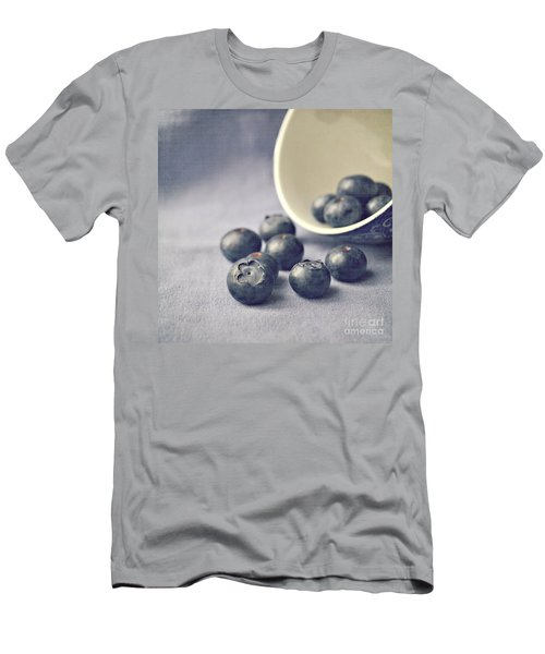 Bowl Of Blueberries Men's T-Shirt (Slim Fit) by Lyn Randle