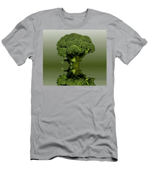 Broccoli Green Veg Men's T-Shirt (Slim Fit) by David French