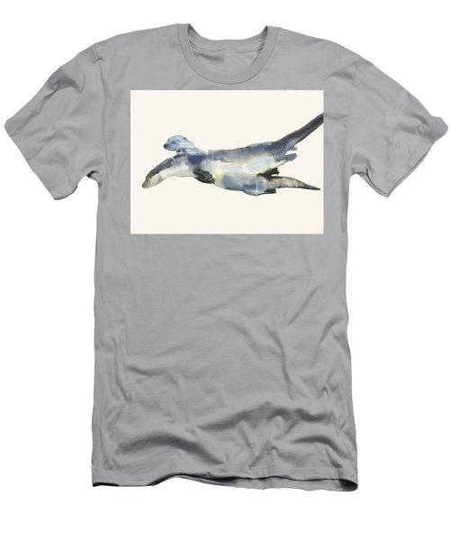 Courting Otters  Men's T-Shirt (Slim Fit) by Mark Adlington