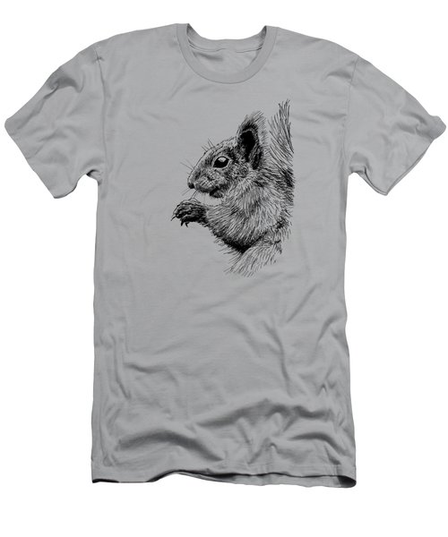 Cute Squirrel Men's T-Shirt (Slim Fit) by Masha Batkova