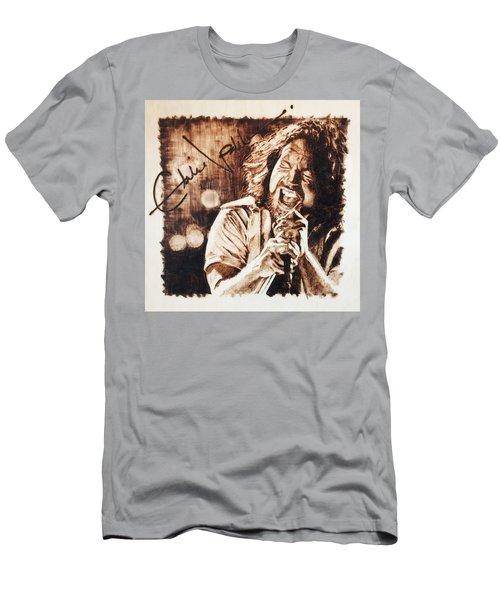 Eddie Vedder Men's T-Shirt (Slim Fit) by Lance Gebhardt