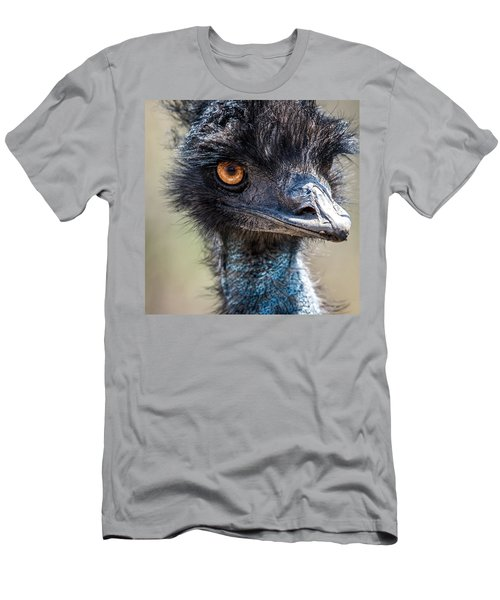 Emu Eyes Men's T-Shirt (Slim Fit) by Paul Freidlund
