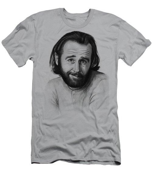 George Carlin Portrait Men's T-Shirt (Slim Fit) by Olga Shvartsur