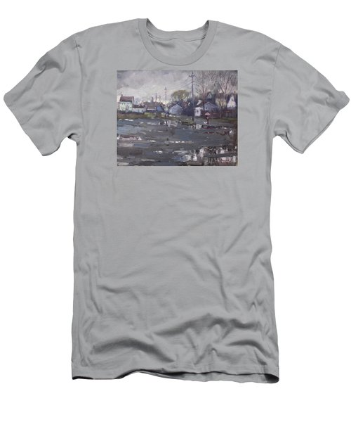 Gloomy And Rainy Day By Hyde Park Men's T-Shirt (Slim Fit) by Ylli Haruni