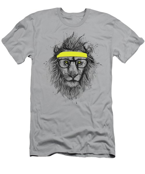 Hipster Lion Men's T-Shirt (Slim Fit) by Balazs Solti