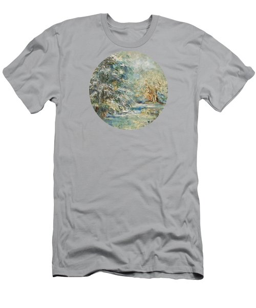 In The Snowy Silence Men's T-Shirt (Slim Fit) by Mary Wolf
